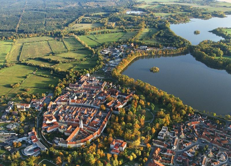 Luftbildaufnahme von Třeboň