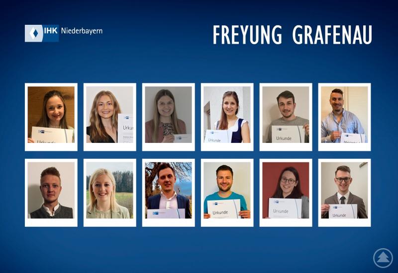 Das Bild zeigt einen Teil der Fortbildungs-Absolventen aus dem Landkreis Freyung-Grafenau.