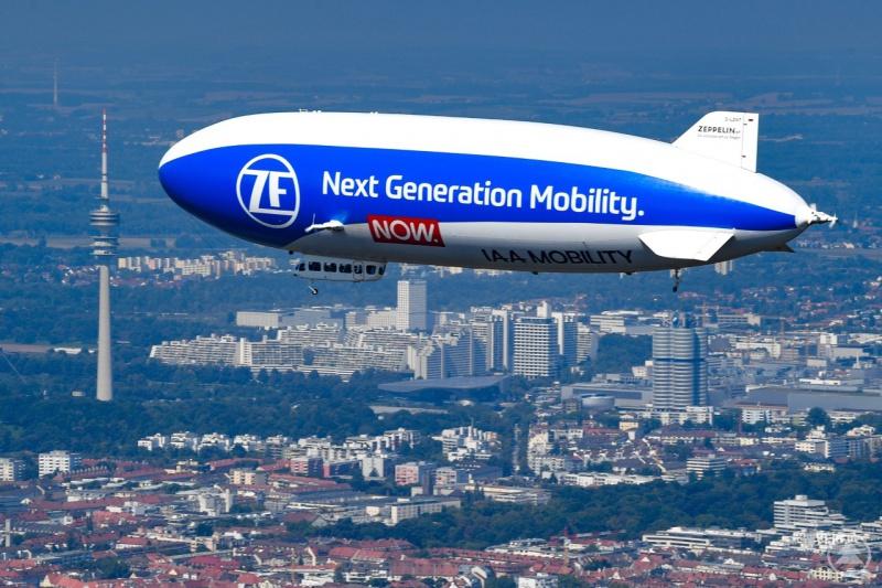 Zu Beginn der Woche zog der Zeppelin während der IAA Messe über München seine Bahnen