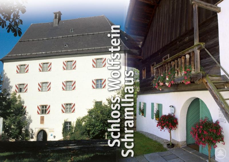 Collage Museum Jagd Land Fluss im Schloss Wolfstein - Wolfsteiner Heimatmuseum im Schramlhaus