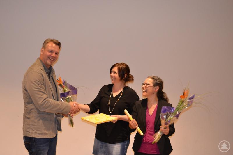 Stephan Unbehagen (links), Katrin Greiner (mitte), rechts Martina Kirchpfening (rechts).