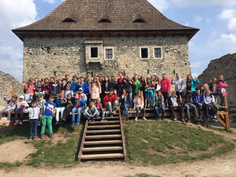 Tolle Eindrücke nahmen die deutschen und tschechischen Schüler von der Burg Kašperk in Bergreichenstein mit.