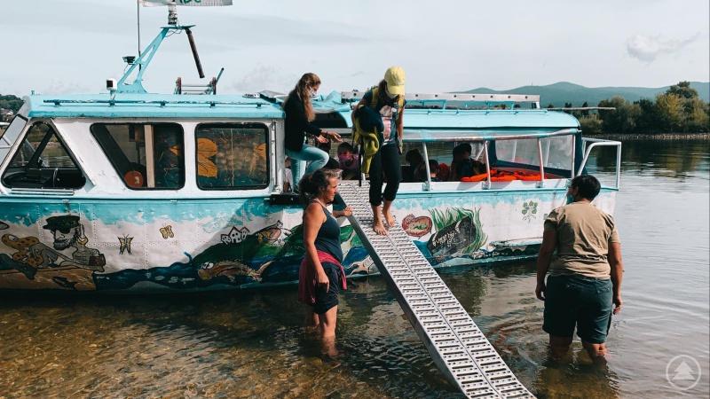 Die Überfahrt auf die Donauinsel war ein Erlebnis.
