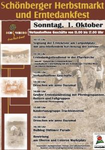 Schönberger Herbstmarkt und Erntedankfest | So, 01.10.2017 von 10:15 bis 18:00 Uhr