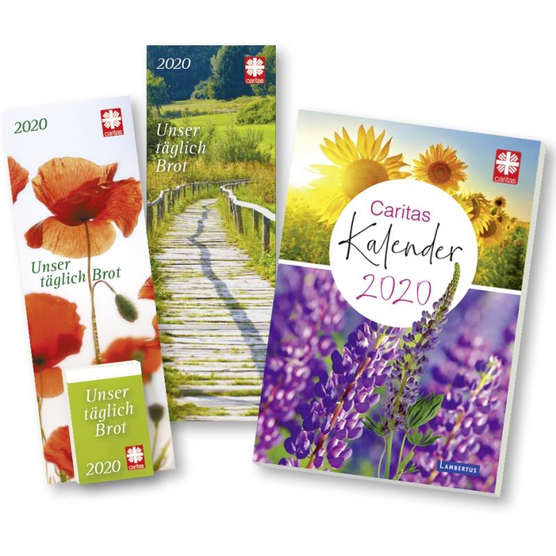 Die neuen Caritas-Kalender für 2020. 365 Impulse für das Leben im Tages-Abreißkalender oder im Kalenderbuch Monat für Monat Inspiration und Meditation, Unterhaltung und Wissenswertes.