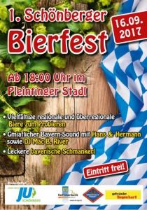 1. Schönberger Bierfest | Sa, 16.09.2017 von 18:00 bis 03:00 Uhr