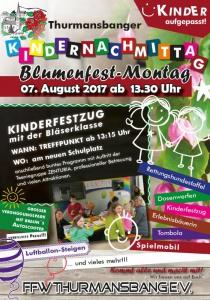 Blumenfest - Kindernachmittag   Mo, 07.08.2017 ab 13:30 Uhr
