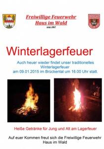 Winterlagerfeuer im Brückental | Fr, 09.01.2015 ab 16:00 Uhr