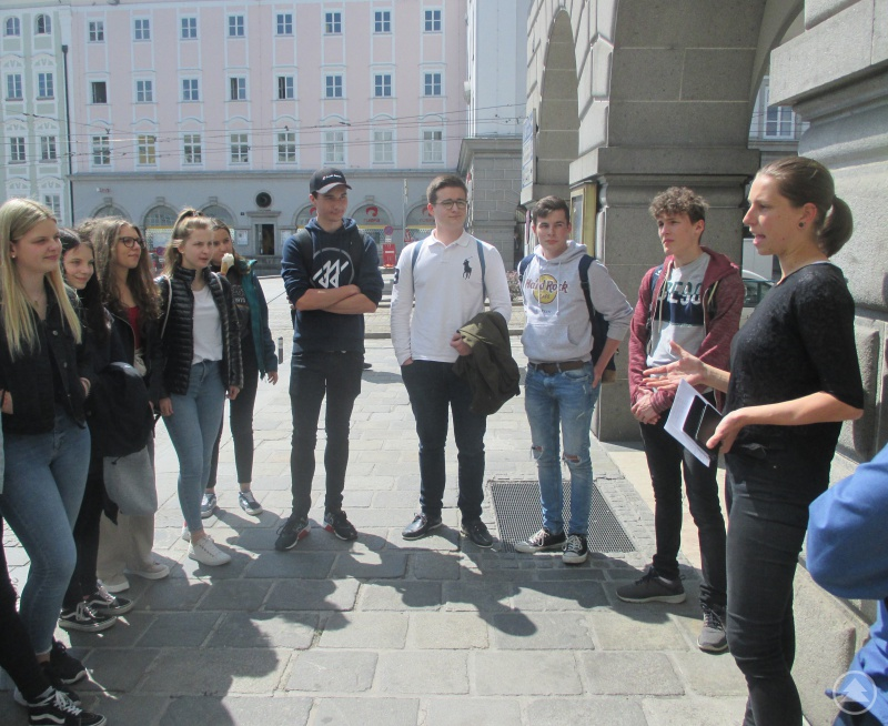 Die Zehntklässler besuchten die oberösterreichische Landeshauptstadt Linz.
