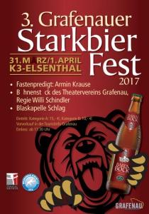 3. Grafenauer Starkbierfest | Fr, 31.03.2017 - So, 02.04.2017 von 17:30 bis 01:00 Uhr