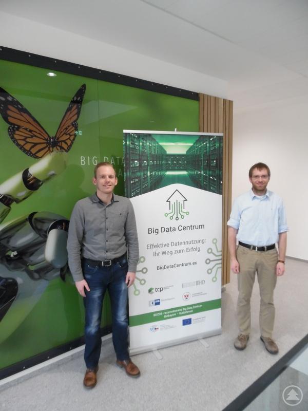 BDZOS TCG-Projektleitung (v.r.: Dr. habil. Robert Hable - Projektleitung; Bernhard Bauer - Statistiker)