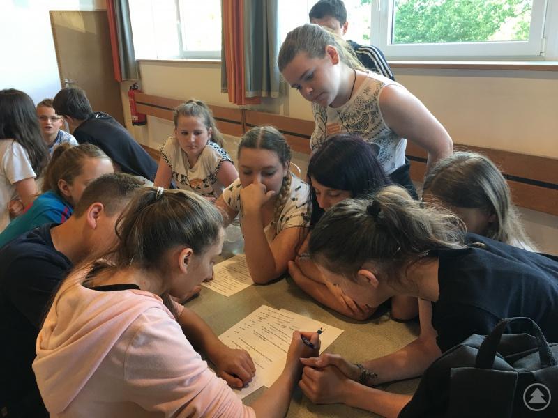 Knifflig waren die Fragen, welche die Schüler als Klassengemeinschaft beantworten mussten.