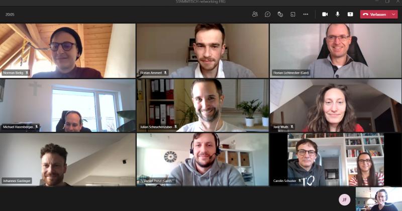 Beim ersten STAMMTISCH networking FRG trafen sich Gründer:innen und Netzwerk-Interessierte virtuell im GreG FRG.