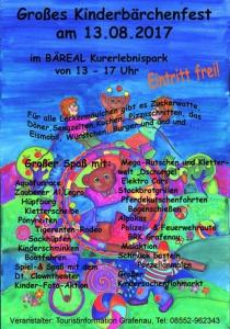 Kinderbärchenfest   So, 13.08.2017 von 13:00 bis 17:00 Uhr