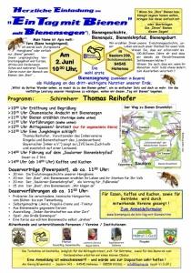 Ein Tag mit Bienen in Hohenau   Sa, 02.06.2018 von 10:00 bis 15:00 Uhr
