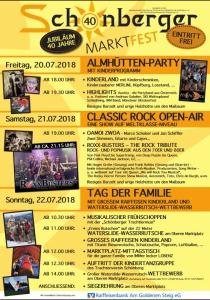 Marktfest Schönberg   Fr, 20.07.2018 - So, 22.07.2018