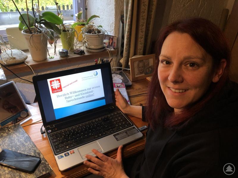 Danja Duckstein ging mit einem Beratungsangebot der Caritas FRG erstmals online.