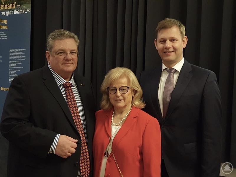 Zu Gast in Grafenau mit Bürgermeister Max Niedermeier, die stv. Landrätin in Freyung-Grafenau Helga Weinberger und MdL Thomas Erndl.