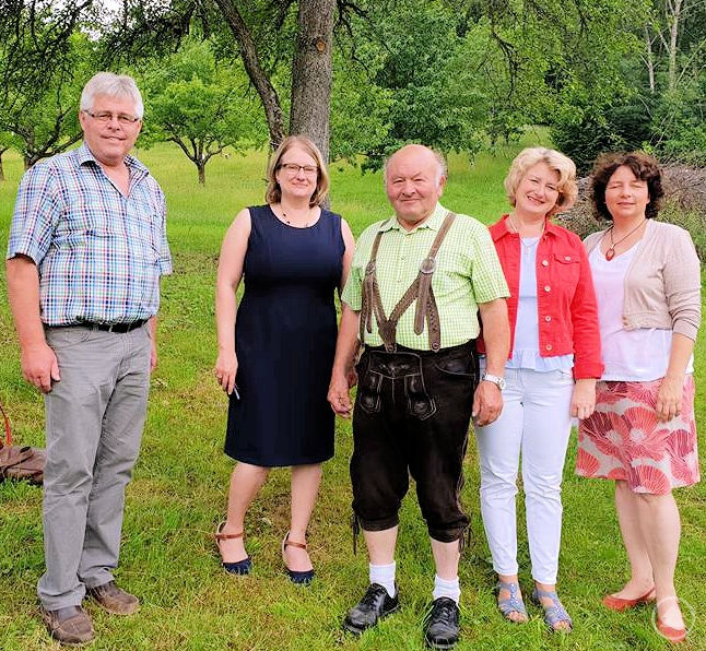 v. links: Max Köberl, Bettina Blöhm, Ludwig Groß, Rita Hagl-Kehl, MdB, Ruth Müller, MdL