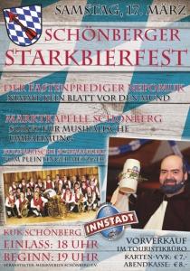 Schönberger Starkbierfest 2018 | Sa, 17.03.2018 von 18:00 bis 01:00 Uhr