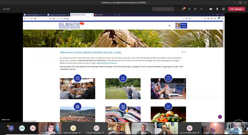 Die erste digitale Infoveranstaltung zu ILE.DIGITAL und ILE.VEREIN hat problemlos funktioniert. Mit dabei waren auch Alexander Mayer, Bürgermeister der Stadt Grafenau, und Stefan Behringer, Geschäftsführer der Firma BWmedien GmbH.
