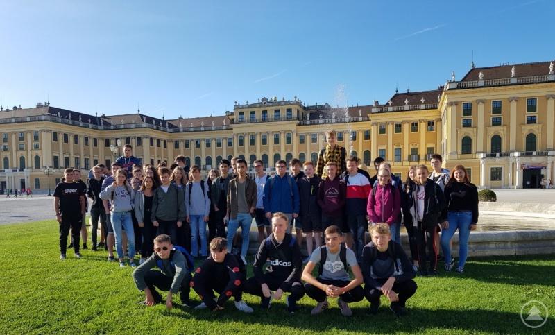 Kaiserwetter in Wien genossen die Abschlussschülerinnen und -schüler der Realschule Grafenau.