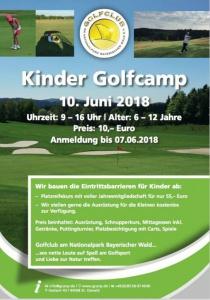Kinder Golfcamp   So, 10.06.2018 von 09:00 bis 16:00 Uhr