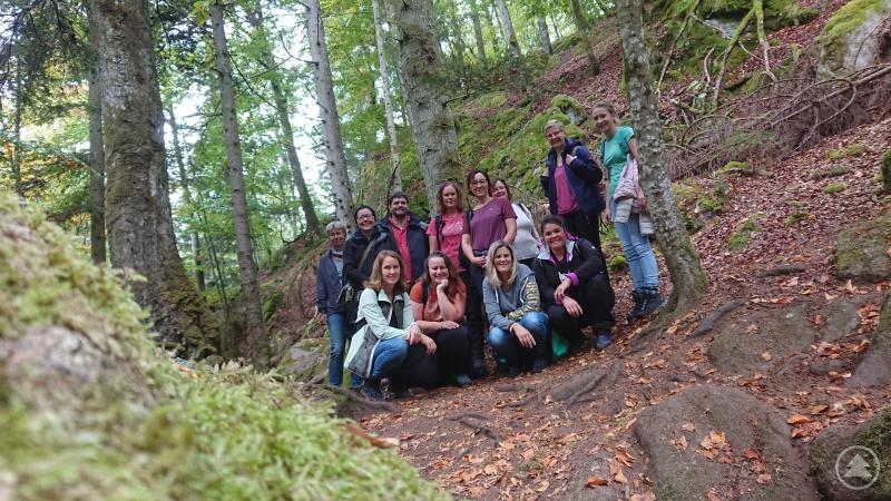 Das Team des Ambulant Betreuten Wohnens wanderte durch die Buchberger Leite.
