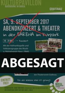 ABGESAGT: Abendkonzert und Theater im Kurpark | Sa, 09.09.2017 von 19:00 bis 23:00 Uhr