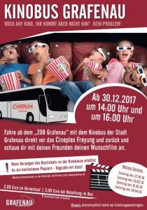Kinobus Grafenau | Sa, 30.12.2017 ab 14:00 Uhr