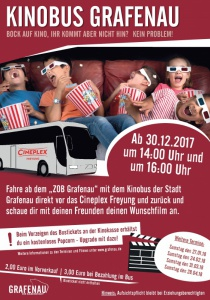 Kinobus Grafenau | Sa, 27.01.2018 ab 14:00 Uhr