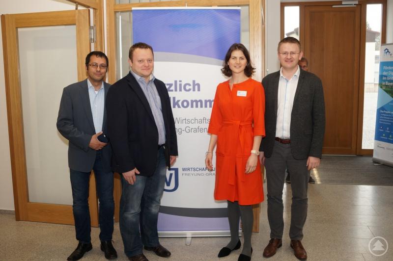 v.L. Herr Michael Fernandes – TC Grafenau, Herr Stefan Behringer – BWmedien GmbH, Frau Magdalena Schinder – TC Grafenau, Herr Frank Jemetz – FJ Trading GmbH