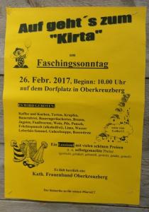 Auf gehts zum Kirta | So, 26.02.2017 von 10:00 bis 15:00 Uhr