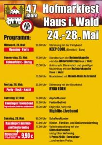 Hofmarkfest Haus i. Wald | Mi, 24.05.2017 - So, 28.05.2017