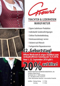 Offene Werkstatt & uriges Stadlfest | So, 16.09.2018 von 13:00 bis 17:00 Uhr