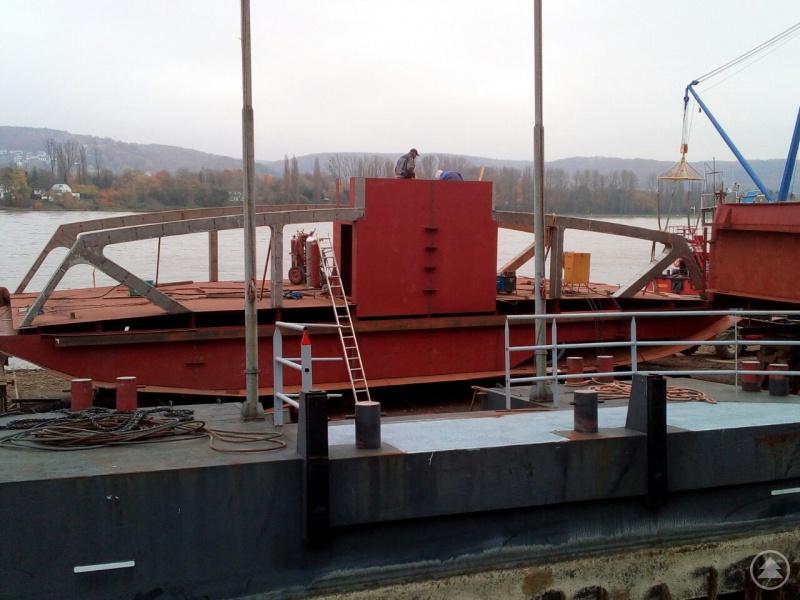 Der aktuelle Baufortschritt der neuen Fähre (Stand 16. November).