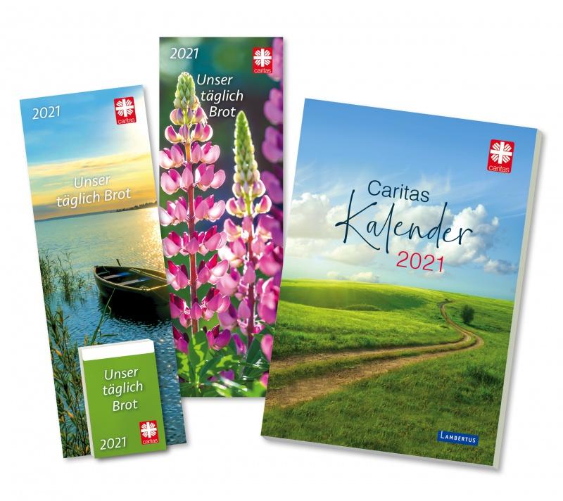 Die neuen Caritas-Kalender für 2021. Impulse für das Leben. 365 Kalenderblätter im Caritas Tages-Abreißkalender oder im Kalenderbuch Monat für Monat Inspiration und Meditation, Unterhaltung und Wissenswertes.
