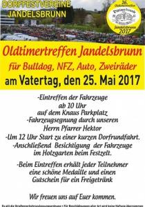 Oldtimertreffen Jandelsbrunn | Do, 25.05.2017 - Fr, 26.05.2017