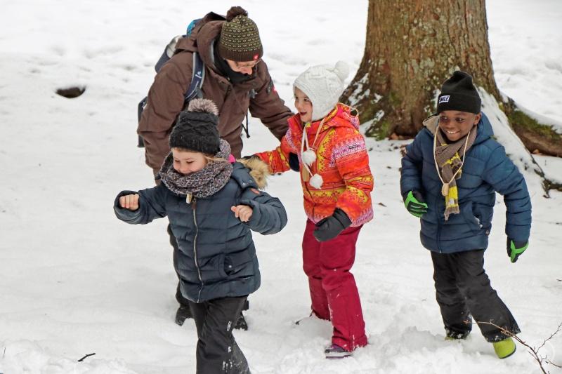 Spannende Spiele, bei denen die Kinder die Natur des Nationalparks entdecken, sind beim Ferienprogramm angesagt.