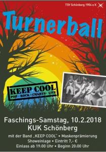 Turnerball 2018 | Sa, 10.02.2018 von 19:00 bis 03:00 Uhr
