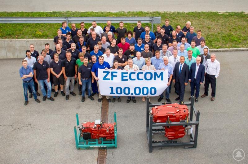 Starke Leistung: Insgesamt 100.000 ECCOM-Stufenlosgetriebe wurden bei ZF in den vergangenen 17 Jahren montiert.