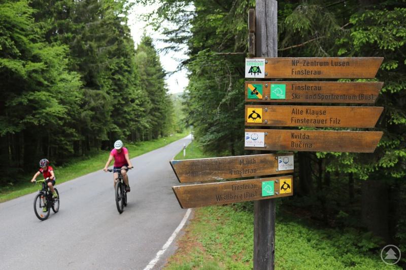 Nur auf deutlich gekennzeichneten Strecken ist das Radfahren im Nationalpark erlaubt.