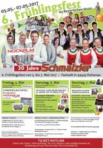 6. Frühlingsfest  - 30 Jahre Schmalzler | Fr, 05.05.2017 - So, 07.05.2017