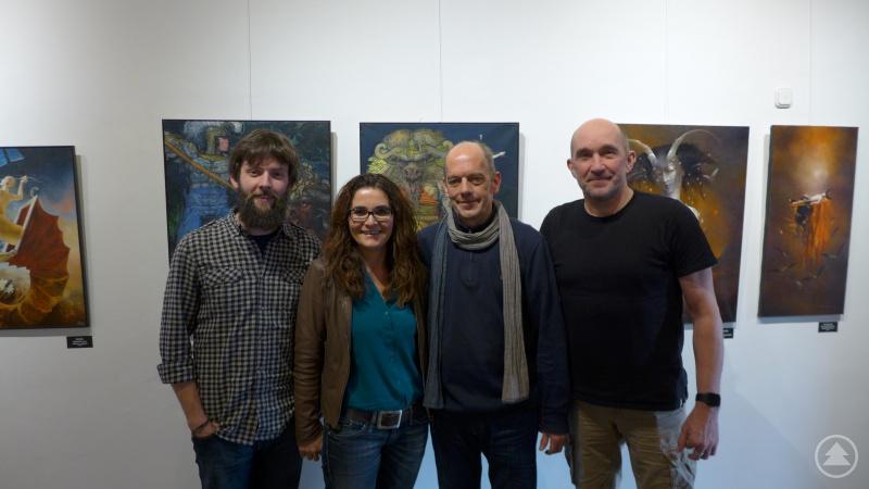 von links: Hanse Wenzl, Monika Häuslmeier sowie Helge Maul und Thomas Hahne von der Jugendreise-Akademie. Daniela Schwarz befindet sich nicht auf dem Bild.